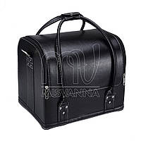 Чемодан, сумка мастера, черный с белым обводком