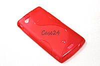 Чехол для Sony Ericsson Xperia Arc S LT18i LT15i красный