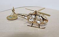 Фигурка с кристаллами Сваровски Вертолет 10 см AR-3393