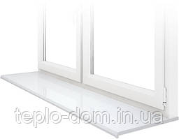 Подоконник премиум-класса Lucido Bianco – белый глянец (450 мм)