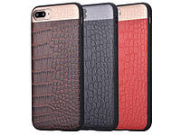 COMMA Croco Leather Case for iPhone 7 Brown