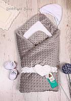 """Зииний конверт-одеяло на махре """"Sweetness"""" на выписку"""