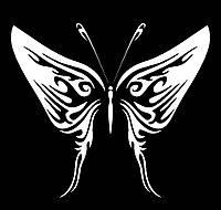 Виниловая наклейка- Бабочка 14 (от 10х10 см)
