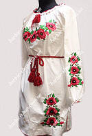 Вышитое женское платье с длинным рукавом 50311