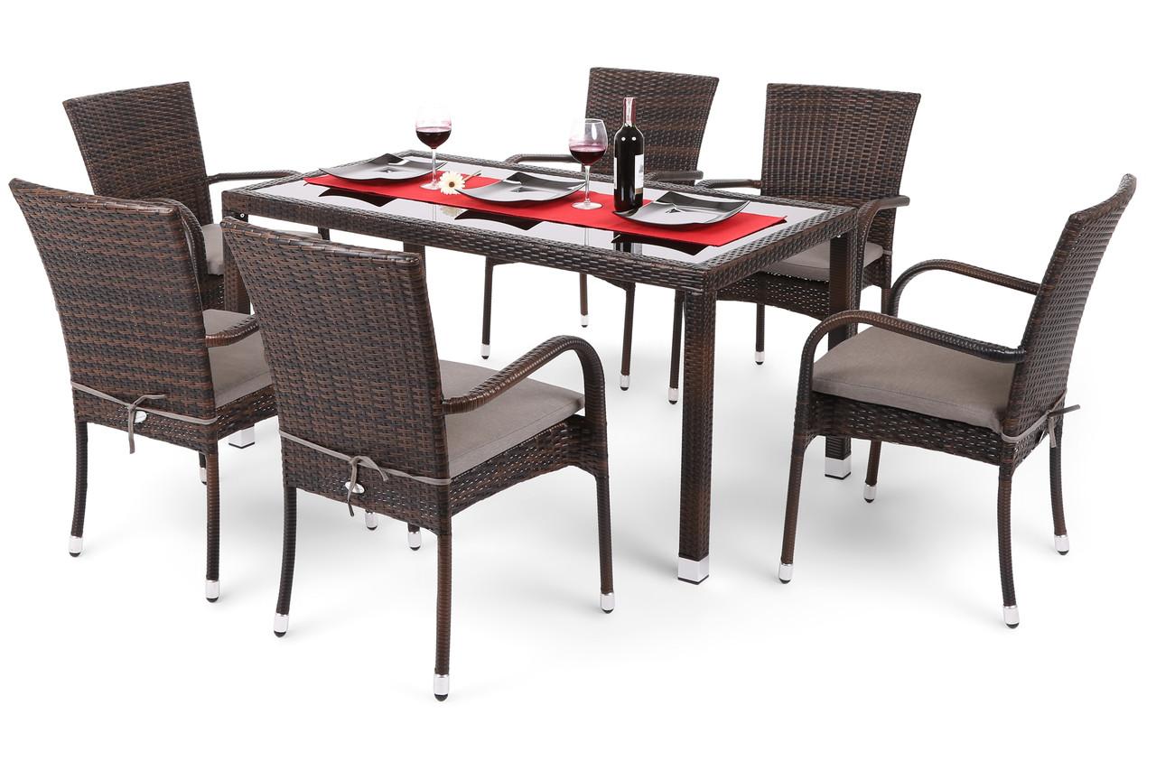 Комплект меблів з техноротангу Mori (коричневий)