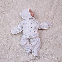 """Трикотажный комплект """"Аnimals print"""" для новрожденных"""
