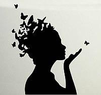 Виниловая наклейка- Волосы бабочки  (от 25х25 см)