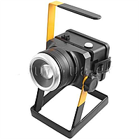 Аккумуляторный фонарь для кемпинга bl-2143 t6,3*18650 3 режима сетевое зарядное устройство