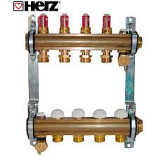 Коллектор для теплого пола Herz с расходомерами G 3/4 (на 3 контура)