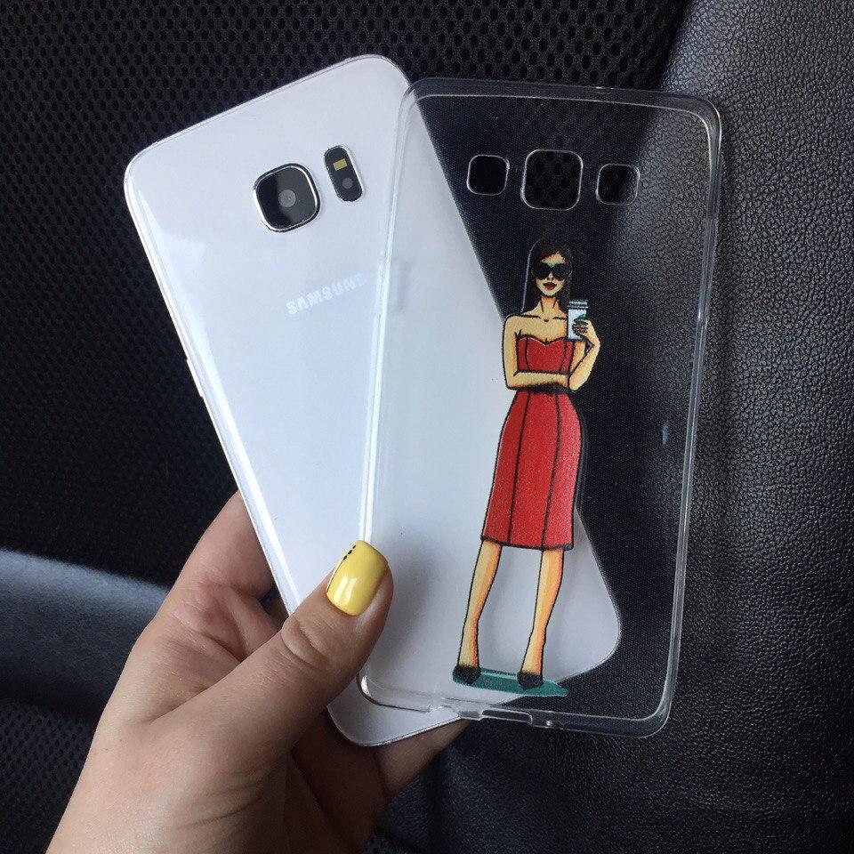 Чехол силикон для Samsung Galaxy J1 2015 (J100h) с картинкой