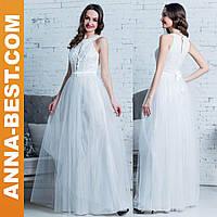 """Белое свадебное, вечернее платье длинное """"Мидея"""""""