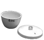 Тигель низкий без крышки фарфоровый Boro С-10-2 Б/К (V-5 мл, d-20 мм, h-19 мм)