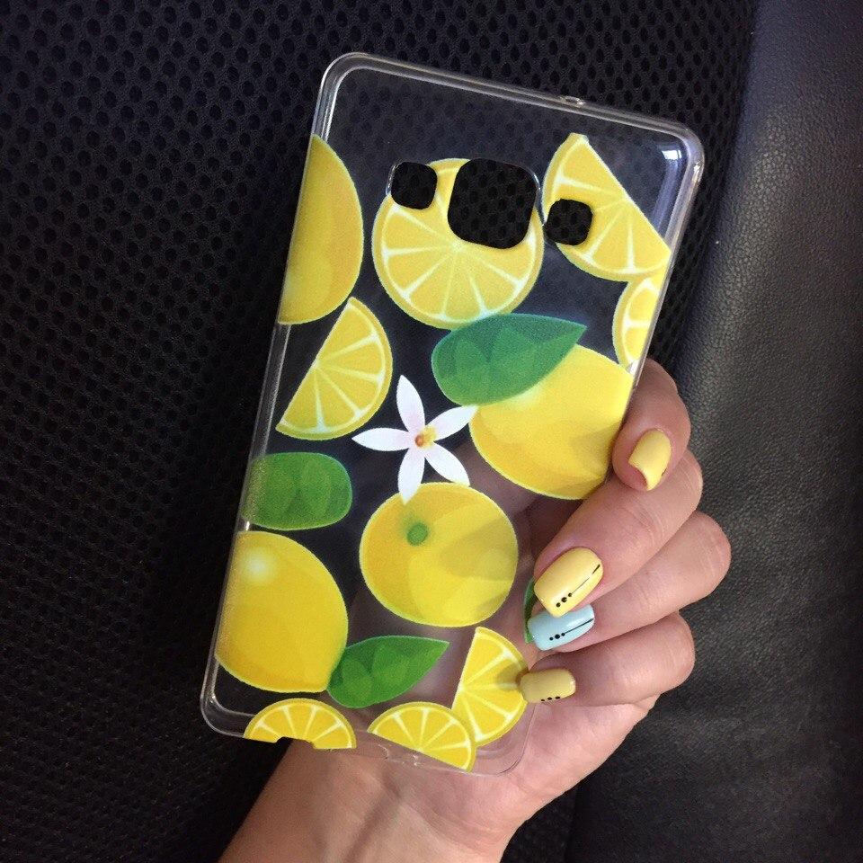 Чехол силикон для Samsung Galaxy J1 2015 (J100h) с фруктами