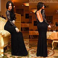 Гипюровое платье  с открытой спиной, фото 1
