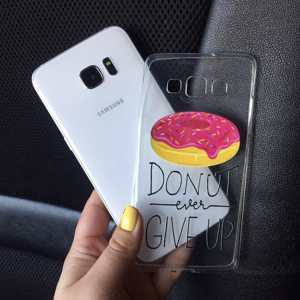 Силикон чехол для Samsung Galaxy J1 2015 (J100h) с принтом