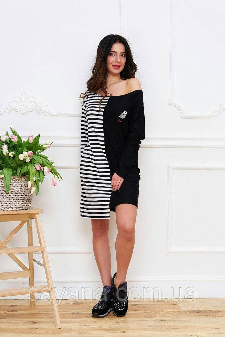 88b1e51a36913a Женское черно-белое платье-миди. Тс-1-0417, цена 600 грн., купить в ...