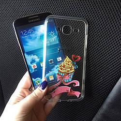 Чехол на Samsung Galaxy J5 2015 (J500h) силиконовый с именем