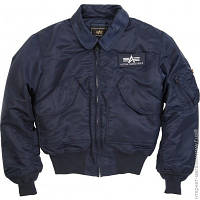 Куртка Alpha Industries CWU 45/P Flight Jacket XL, Replica Blue (MJC22000C1)