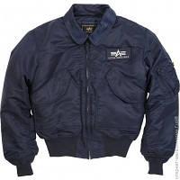 Куртка Alpha Industries CWU 45/P Flight Jacket XXL, Replica Blue (MJC22000C1)