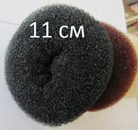 Бублик Hair Bun большой (XL) для гульки, пучка. Диаметр 11 см. Черный. Причёска для бальных танцев.