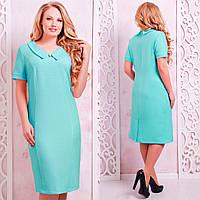 Льняное платье больших размеров Верди мята