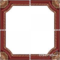 Плитка для ванной Mapisa Плитка настенная MAPISA SET 4 PIECES CORNERS BOISERIE STARIY ARBAT RED