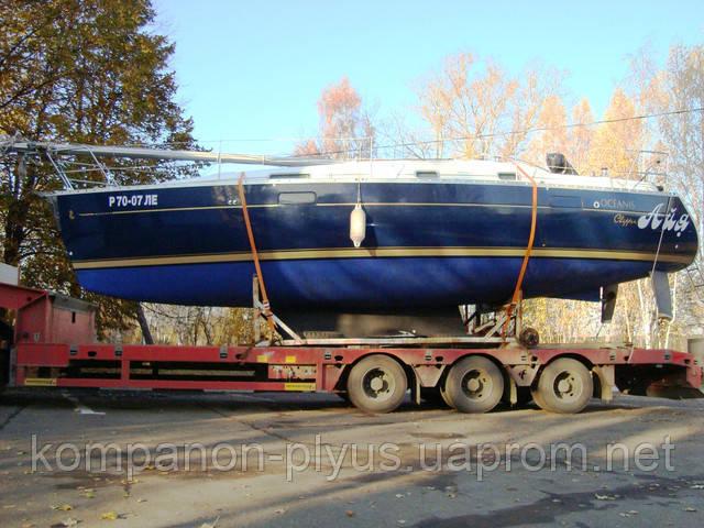 Перевозка строительной техники. Перевозки катеров. Перевозка яхт. Перевозка буровых установок. Услуги тралов, низкорамников.