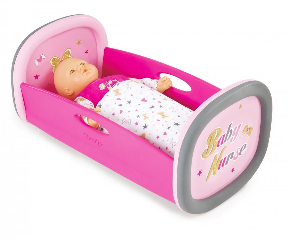 Аксесуари для ляльок Smoby» (220313) люлька-ліжко для ляльки Baby Nurse, з аксесуарами