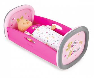 Аксесуари для ляльок Smoby» (220313) люлька-ліжко для ляльки Baby Nurse, з аксесуарами, фото 2