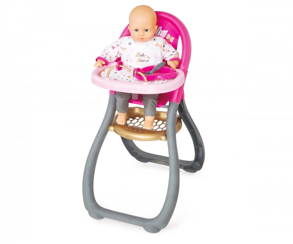 Аксесуари для ляльок Smoby» (220310) стільчик для годування Baby Nurse