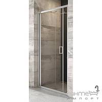 Душевые кабины, двери и шторки для ванн Ravak Душевая дверь складная двухэлементная Ravak Blix BLDZ2-80 полир. алюминий/прозрачное X01H40C00Z1
