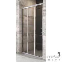 Душевые кабины, двери и шторки для ванн Ravak Душевая дверь раздвижная трёхэлементная Ravak Blix BLDP3-90 полир. алюминий/прозрачное X00H70C00Z1
