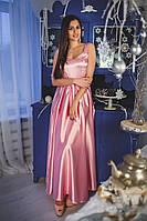 Коктейльное платье из стрейч-атласа с открытой спинкой