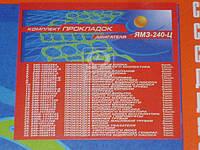 Ремкомплект двигателя ЯМЗ 240 цельной головки (полный комплект) (32 наименования) (производитель Украина)