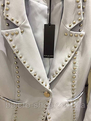 Женский пиджак бледно голубой Drole de copine Paris, фото 3