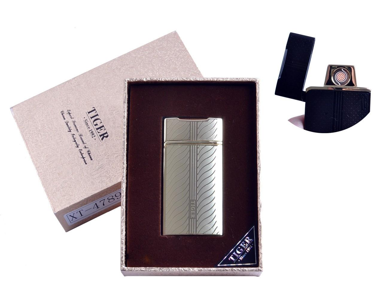 """Спиральная USB-зажигалка """"Tiger"""" №4789-3, спираль двухсторонняя, подарочная коробка, станет отличным подарком"""