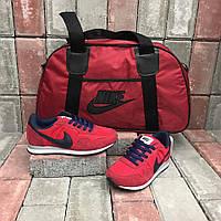Спортивный набор сумка+обувь красные