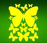 Виниловая интерьерная наклейка - Набор ( бабочки)