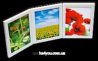 Мультирамка-коллаж настольная на 3 фотографии 10х15 белая, фото 1