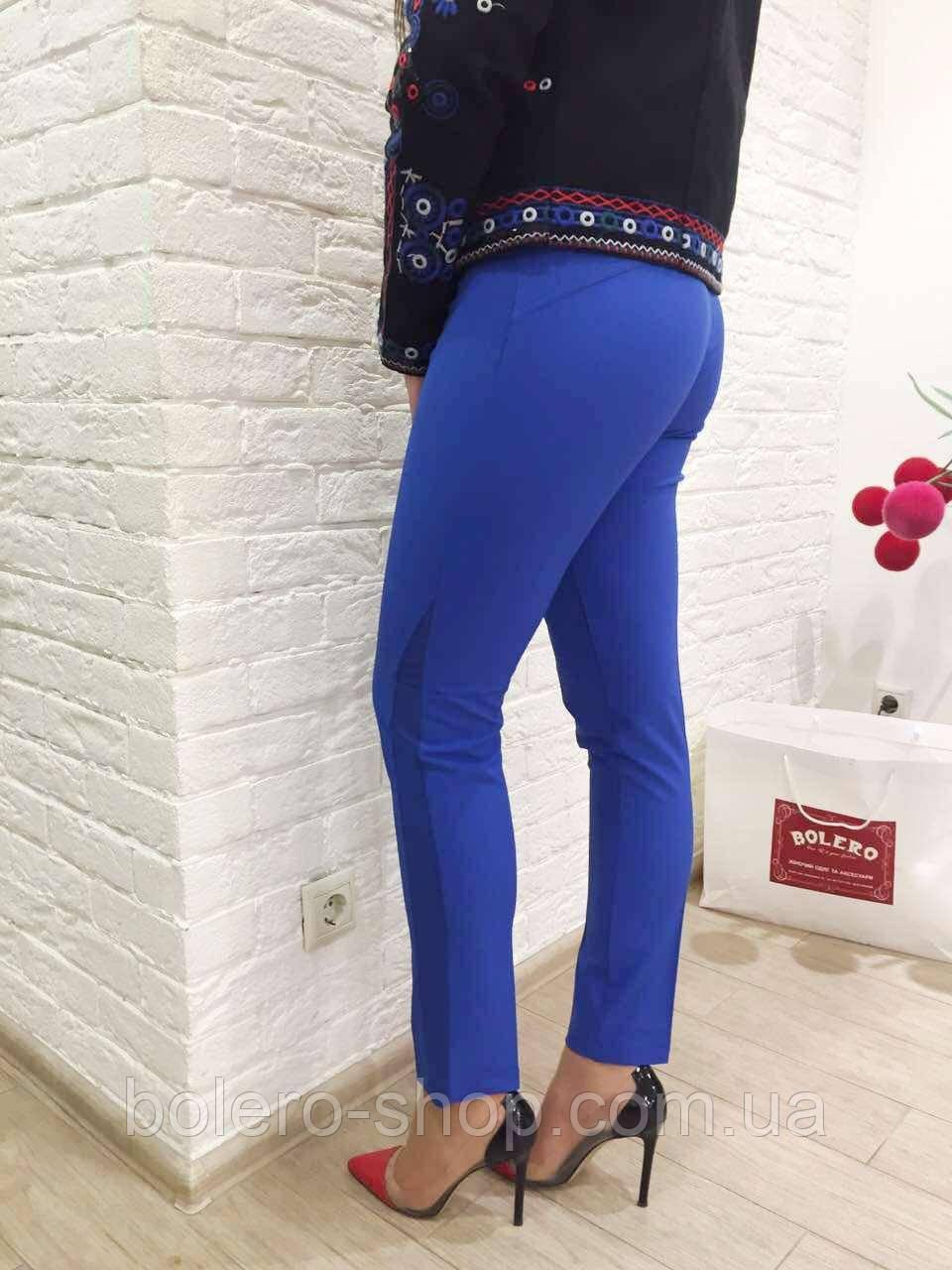Женские брюки синие  брендовые Италия