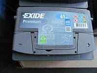 Аккумулятор   61Ah-12v Exide PREMIUM(242х175х175),R,EN600 EA612