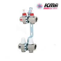 Коллектор для теплого пола ICMA с расходомерами G 3/4 (на 2 контура)