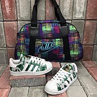 Интересный cпортивный набор сумка+обувь