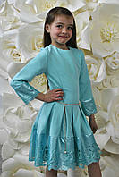 Элегантное нарядное платье с перфорацией для девочки.