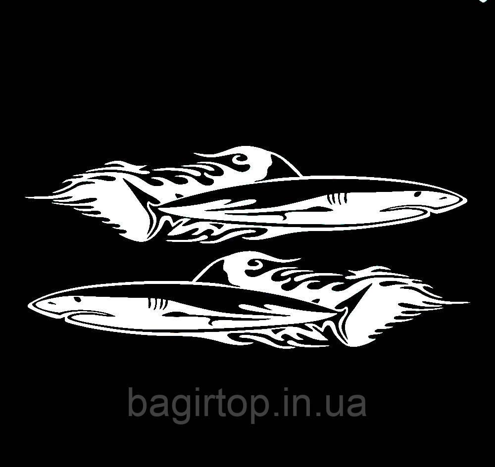 Вінілова наклейка на авто - Акули