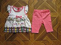 Детский  летний костюм Птички для девочки 6-12 мес Турция