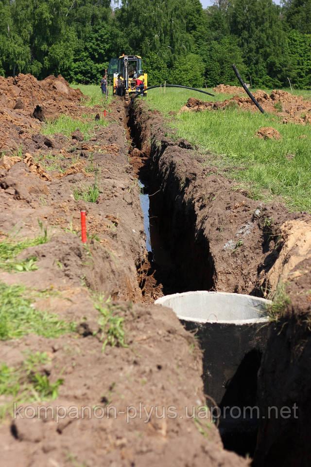 Строительство инженерных коммуникаций. Прокладка канализации. Монтаж канализации. Прокладка трубопровода
