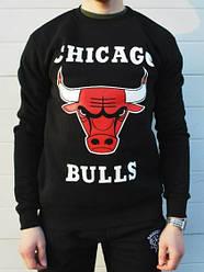 Спортивная кофта Chicago Bulls, Чикаго Буллс, свитшот, трикотаж, мужской,черного цвета,копия
