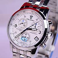 Стильные мужские кварцевые водостойкие наручные часы OLIPAI JT6002-S-W Silver