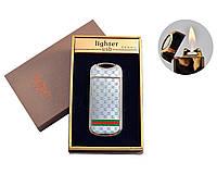 """Газовая USB-зажигалка с электроимпульсным поджигом  """"Абстракция"""" №4805-3, необычный стильный девайс"""
